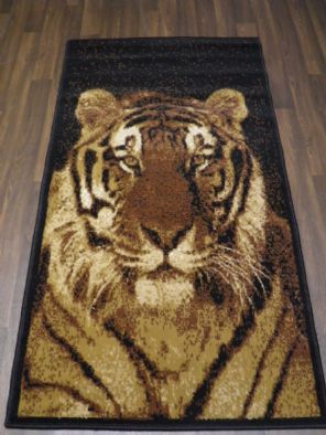Modern Approx 5x2ft6 80cmx150cm Woven Top Quality Tiger Face Beiges Rugs/Mats